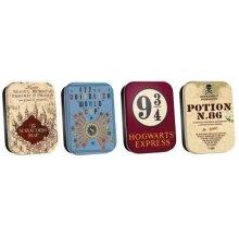Mini Tins Set of 4 - Harry Potter - Map etc. Set
