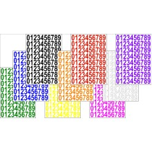 Numbers Stickers Label Self Adhesive Peel Off Sticky 2.5cm High