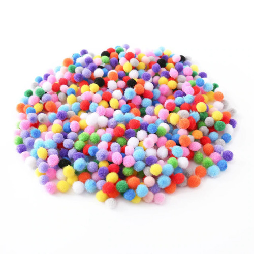 10mm Soft Round Fluffy PomPom Balls - Mixed Colors for DIY Decoration