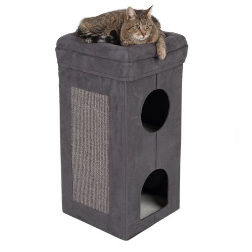 Collapsible Cat Scratching Tower Bed Den Hideaway