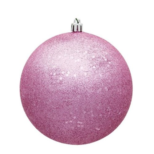 4 in. Pink Sequin Christmas Ornament Ball - 6 per Bag