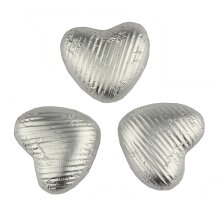 Silver chocolate hearts - Bag of 50