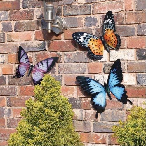 Large Metal Butterflies Pack Of 3