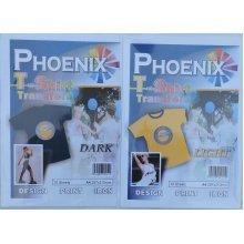 Phoenix T-Shirt Transfer Paper - Light and Dark - 10 of each