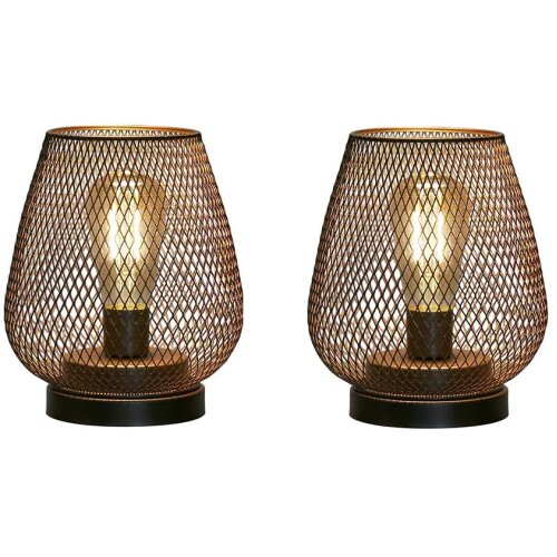 JHY DESIGN 2-piece metal cage LED lamp battery-powered cordless lamp with LED lamp, very suitable for wedding
