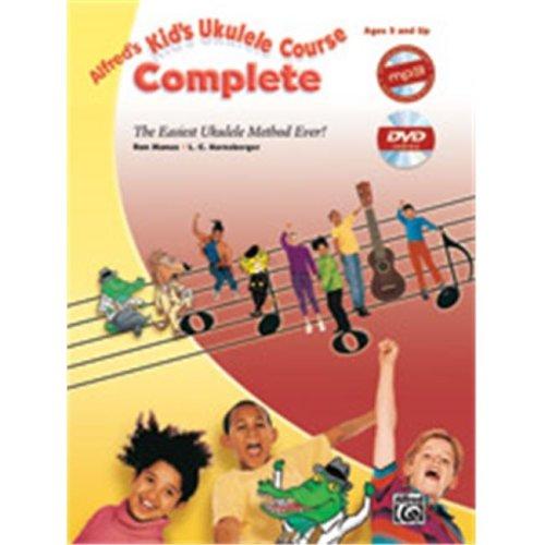Alfred 00-40522 KIDS UKULELE COURSE COMP-BK&CD&DVD