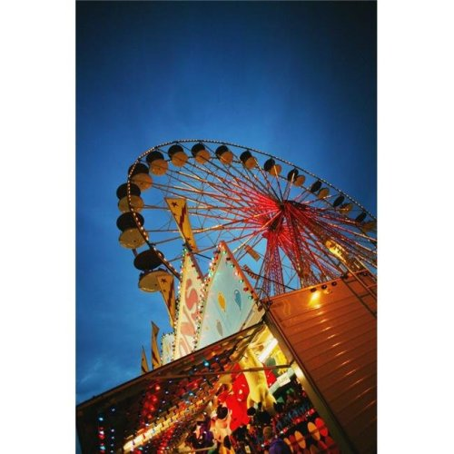 Evening At An Amusement Park Poster Print by Darren Greenwood, 22 x 34 - Large