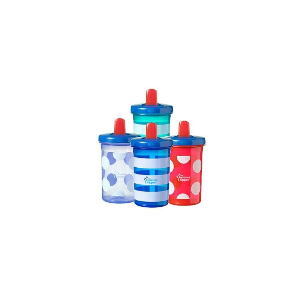 Red Tommee Tippee Essentials Free Flow Super Sipper Cup 300ml 9m