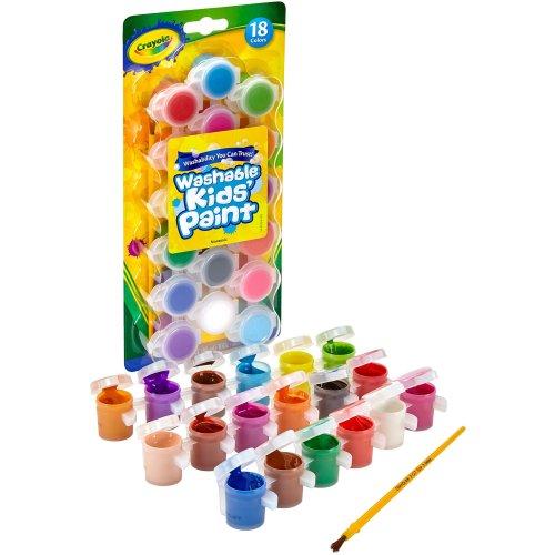 Crayola 54-0125 18 Washable Kids Paint (88.7ml) - Multi-Colour