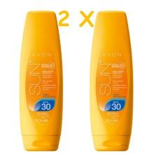 2 x AVON SUN+ Fresh Protection Sun Lotion SPF30 150ML