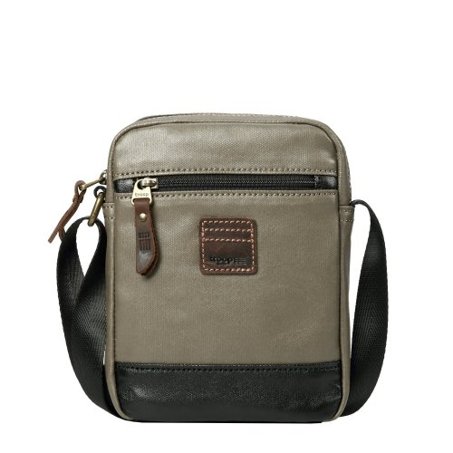 TRP0516 Troop London Heritage Coated Canvas Casual Crossbody Bag, Small Acrossbody Bag