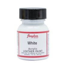 Angelus Acrylic Leather Paint 1 fl oz/30ml Bottle. White 005