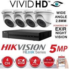 Hikvision CCTV 4K 5MP Night Vision DVR Home Security System Kit(2TB)