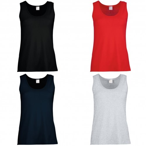 Womens/Ladies Value Fitted Sleeveless Vest