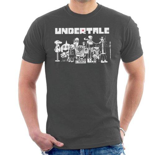 (Small, Charcoal) Undertale X Mercy Friends Men's T-Shirt