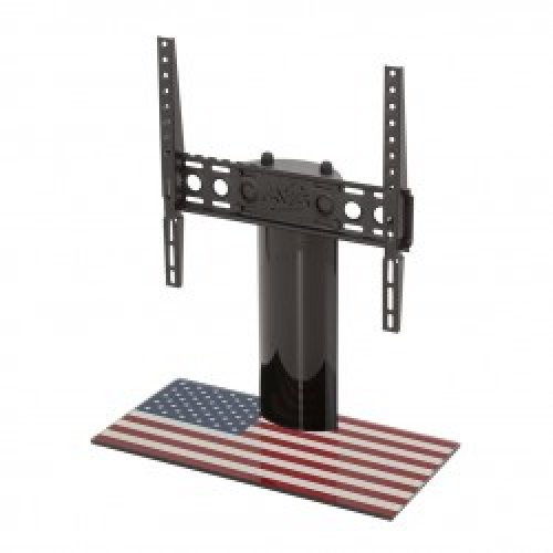 """King Table Top Base Pedestal Stand with Universal Bracket and Stars & Stripes United States of America USA Flag by TV Furniture Direct (12"""" - 55"""")"""