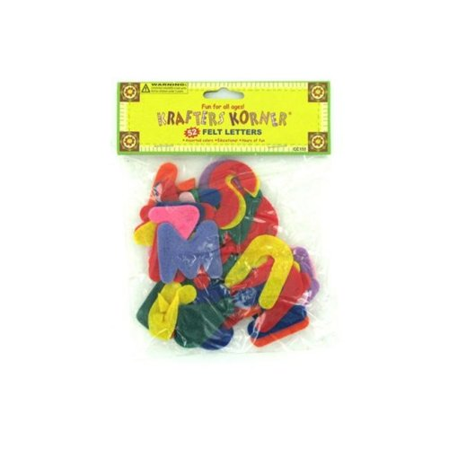 Bulk Buys CC151-24 Crafting Felt Letters Toys - Case of 24