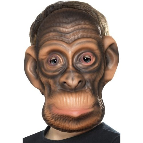 Smiffy's 46972 Chimp Mask (one Size) -  animal kids monkey face mask fancy dress childrens childs accessory jungle