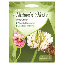 Unwins Grow Your Own Natures Haven Beautiful White Clover Flower Seeds