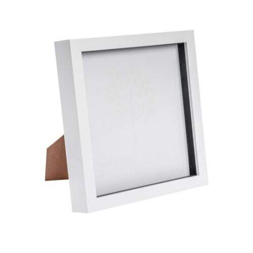 "Nicola Spring 5Pk White Box Frames - 8x8"" | Deep Picture Frames"