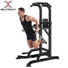 Power Pull Up Station Dip Exercise Bar Chin Push Up Knee Raise Stand