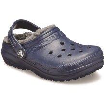 Crocs: Kids Navy Classic Lined Slip On Clog 10