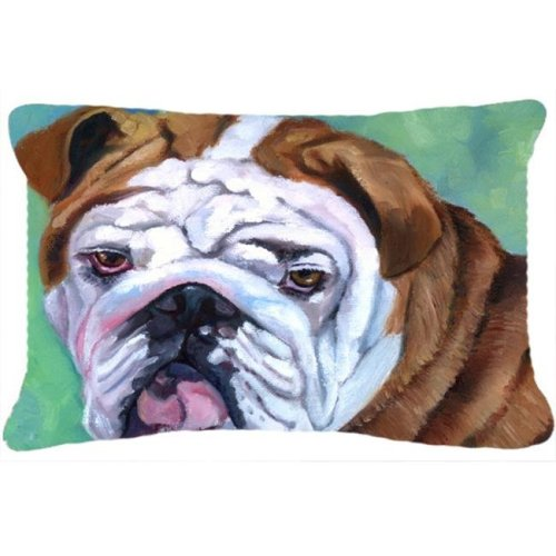 Admiral The English Bulldog Fabric Decorative Pillow