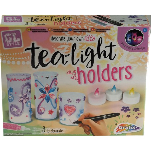 Grafix Design Decorate And Make Your Own Tea Light Holders - Girls Craft Toy