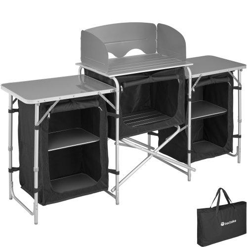 Camping Kitchen 172x52x104cm - black