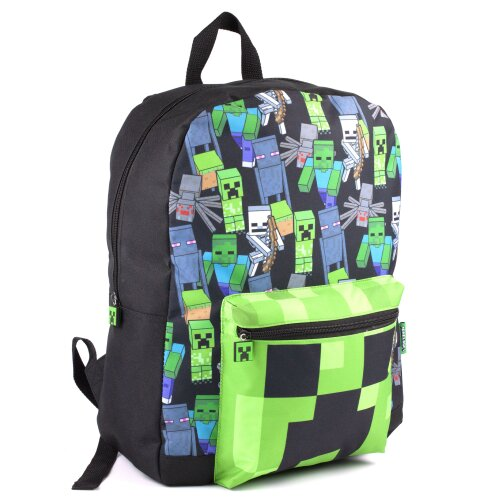 Minecraft All Over Print Kids Black Backpack