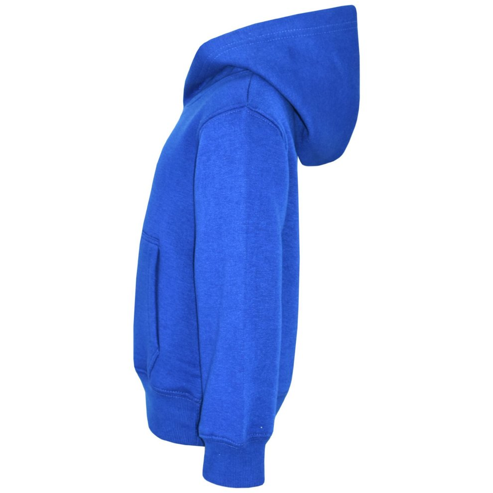 A2Z Kids Girls Boys Sweat Shirt Tops Plain Royal Blue Hooded Jumpers Hoodies 2-13 Yr