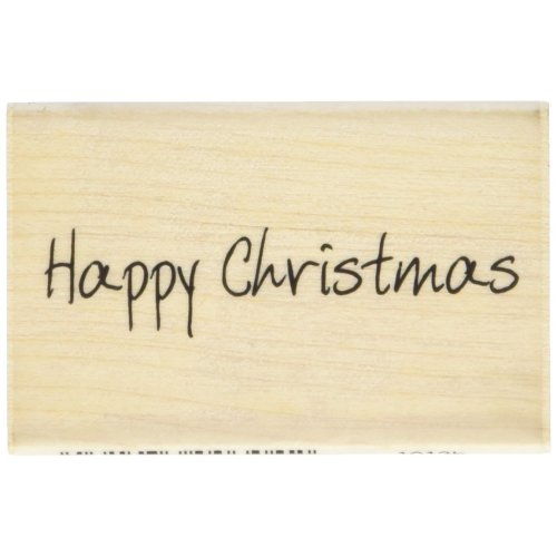 Art Stamps Scribbled Happy Christmas Inca Stamp, Black