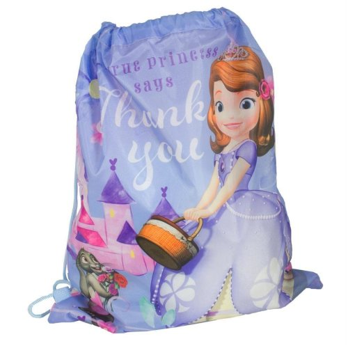 "Disney / Character ""Back to School"" Drawstring PE / Swim Bag - Sofia the First"