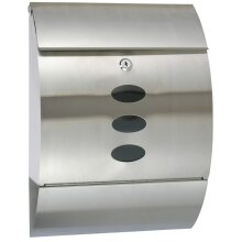 HI Letter Box Stainless Steel 30x12x40cm Outdoor Lockable Postbox Mailbox