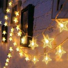 Star Curtain Fairy String Lights Warm White LED Decoration Lightning