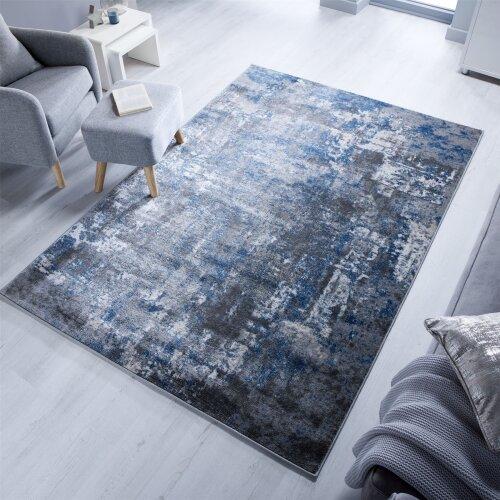 (Wonderlust - Blue Grey 160x230cm) Cocktail Wonderlust Modern Abstract Rugs
