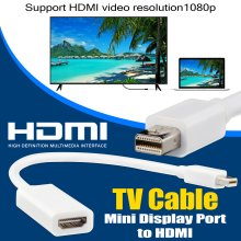 MiniDisplayPort to HDMI Adapter for MacBook Air/Pro Moniter Projector