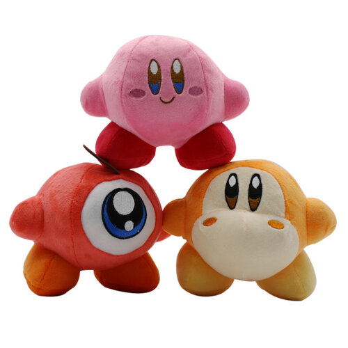 3pcs Kirby of Star Plush Doll Nintendo Game Vadodi Plush Toy Domoded