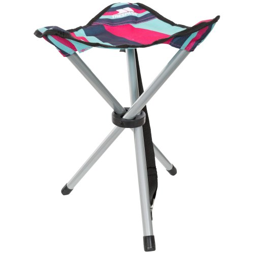 (One Size, Tropical Stripe) Trespass Ritchie Tripod Camping Stool/Chair
