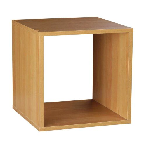 Oypla Storage Cube 1 Tier Wooden Shelf Bookcase Shelving Storage Rack