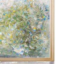 Decorative Window Privacy Film Stained Glass, Window Sticker Self-adhesive, Vinyl Static Anti Uv Tint