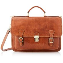 40x28x12cm - Leather Briefcase - Made in Italy