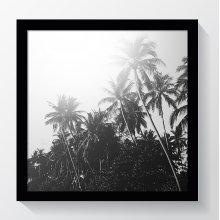 """8x8""""/ 20x20cm Oxford Black Square Instagram Photo Frame - Glass Window"""