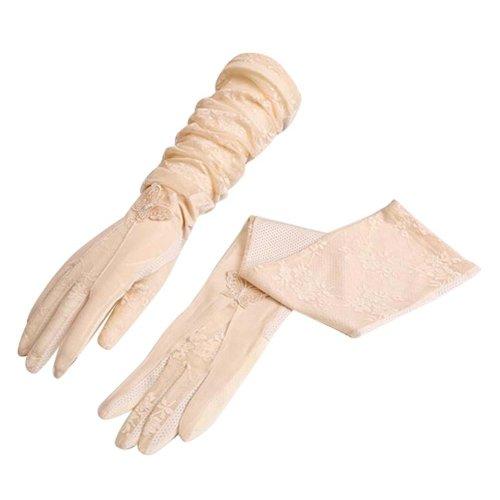Use In Summer Long Sun Gloves Anti-UV & Non-slip Full Finger/Touch Screen,#02