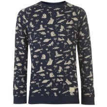 ONeill Mens Fish and Chicks Sweater Crew Jumper Pullover Long Sleeve Neck Cotton