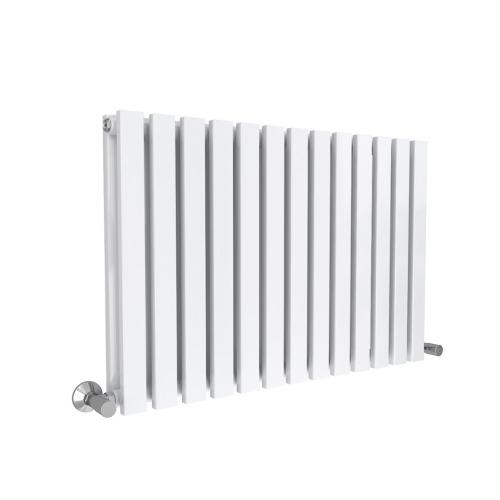 White 8pc Lulea Single Panel Radiator - 60 x 55cm | Horizontal Radiator