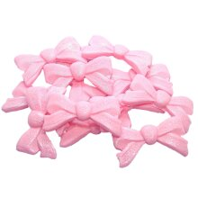 12 Edible Large Glittered Bows Wedding Cupcake Cake Toppers