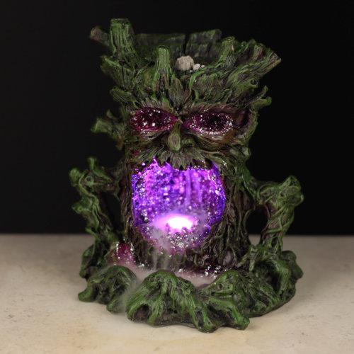 Fantasy LED Backflow Incense Burner - Crystal Green Man