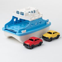 Green Toys Ferry Boat with Two Toy Cars - Bath and Water Toys