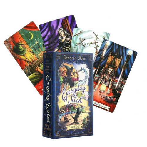 Tarot Everday Witch Cartoons Cards Deck Board Home Party Tarot Cards Table Game